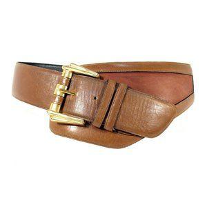 AVIGNON Vintage 80's Asymmetrical Wide Curved Belt